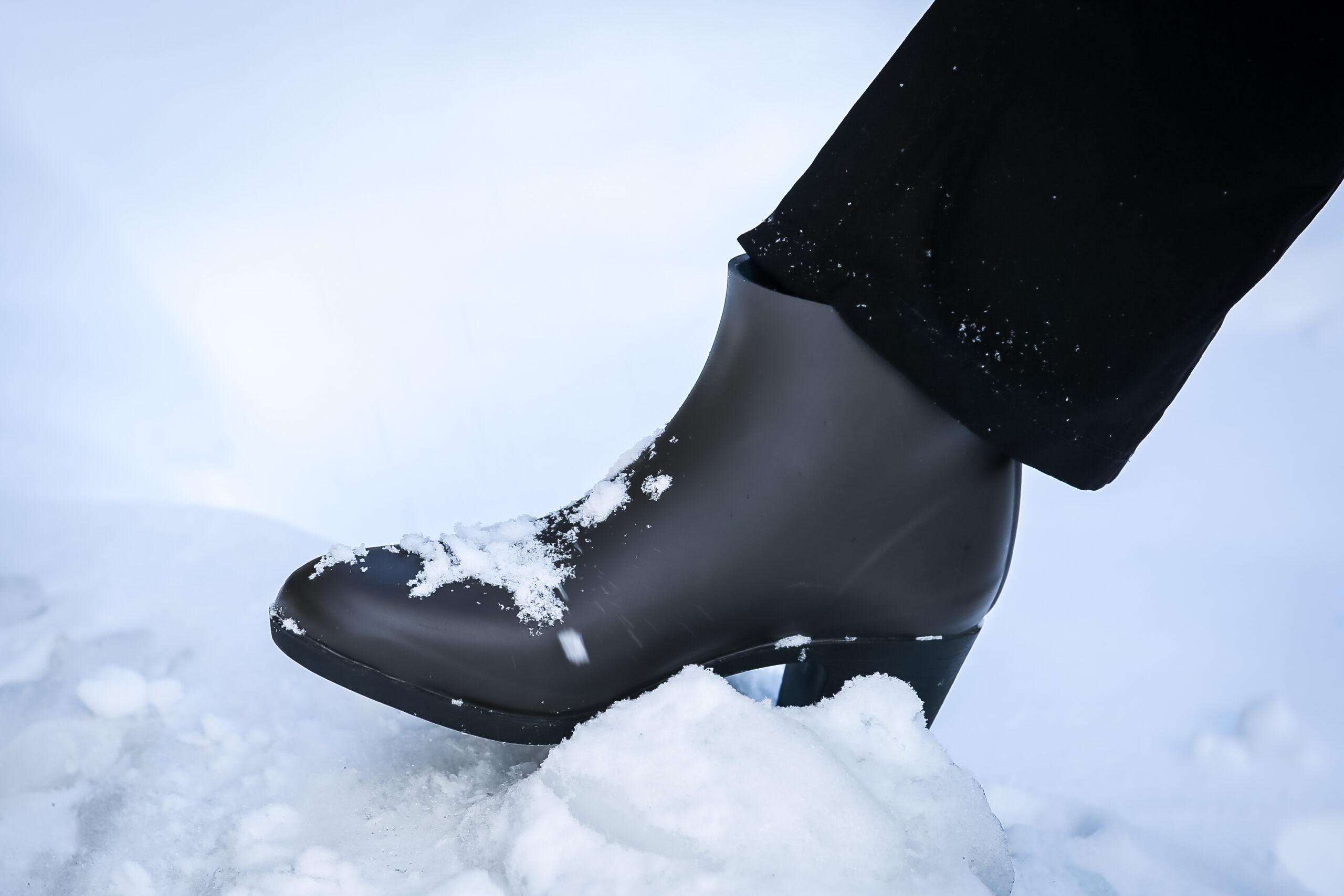雪の中でも大丈夫なレインブーツ